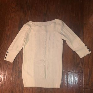 Off white colored sweater size M